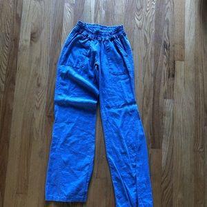 foxy ocean side flare linen pants